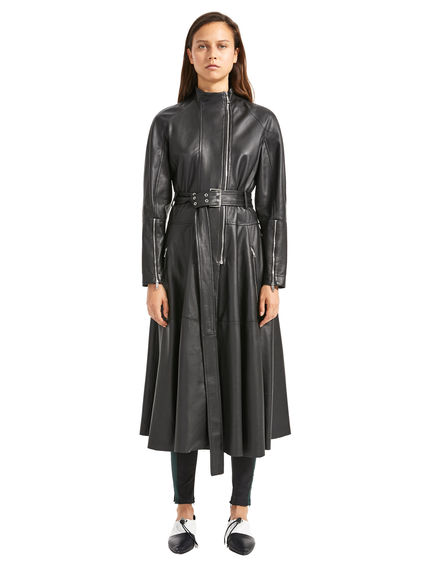 Nappa Leather Biker Coat