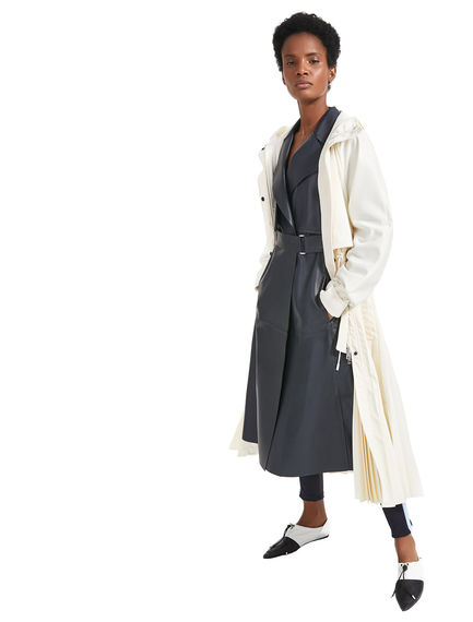 Tailored Leather Trench Coat Sportmax