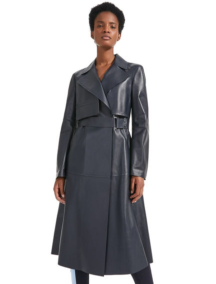 Tailored Leather Trench Coat