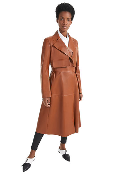 Trench sartoriale in pelle