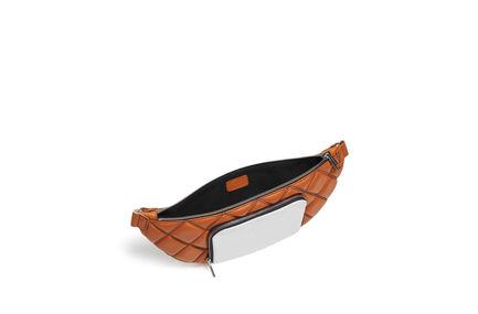 Belt bag in nappa trapuntata