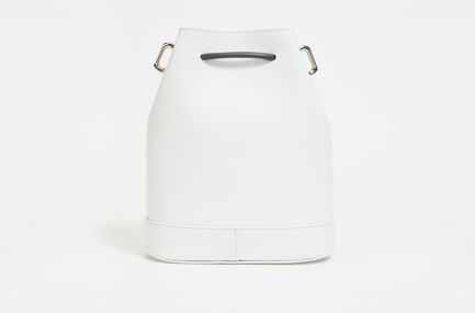 Calfskin Leather Bucket Bag Sportmax