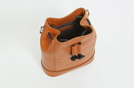 Calfskin Leather Bucket Bag