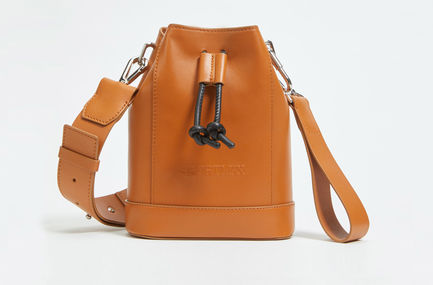 Calfskin Leather Bucket Bag