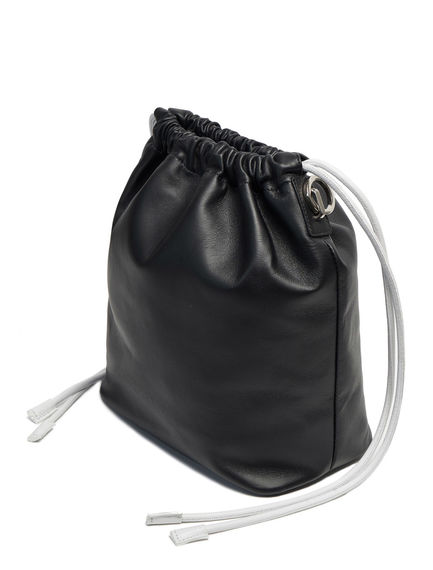 Smooth Leather Drawcord Bag