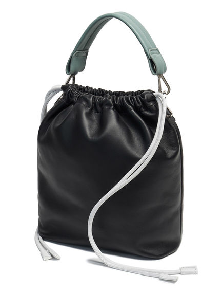 Smooth Leather Drawcord Bag Sportmax