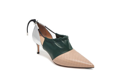 Drawstring Leather Stilettos Sportmax