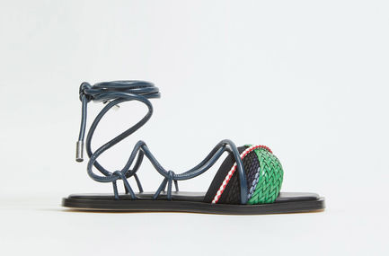 Braided Leather Sandals Sportmax