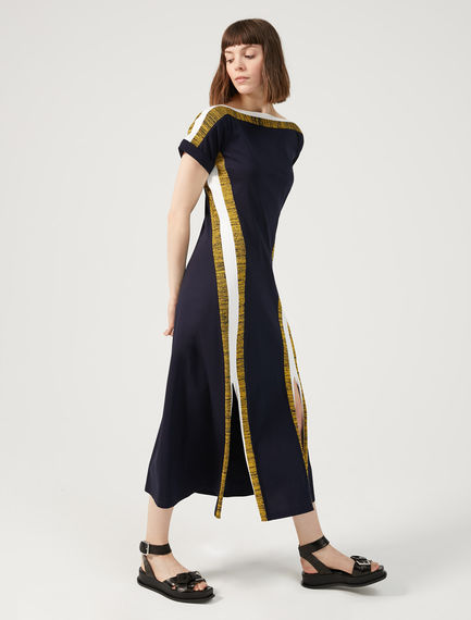 Racing Stripe Cotton Dress