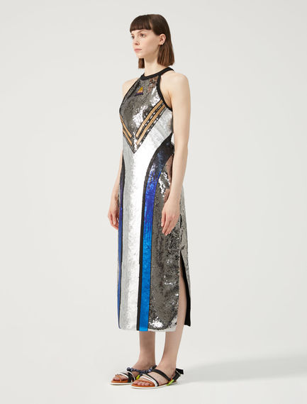 Sequin Halter-Neck Dress