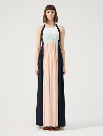 Two-tone Flowing Maxi Dress