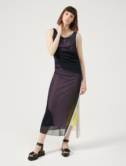 Two-Tone Geometric Dress Sportmax