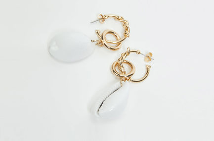 Drop Shell Earrings