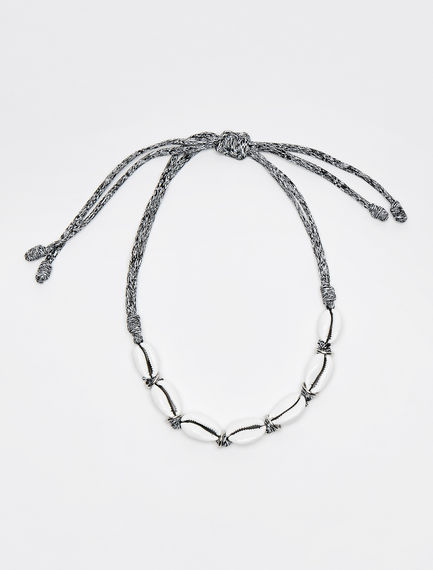 Statement Shell & Bungee Necklace Sportmax