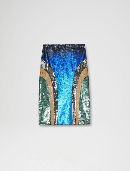 Multi-Tonal Sequinned Skirt