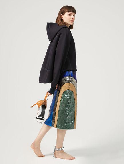 Scuba-style Oversized Fleece Top