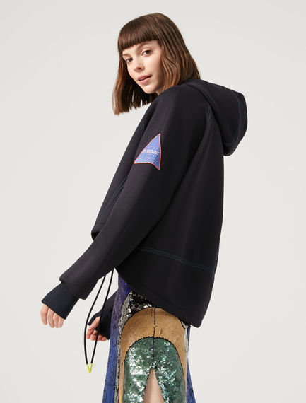 Scuba-style Oversized Fleece Top Sportmax