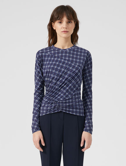 Gathered Check T-shirt Sportmax