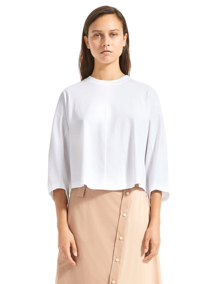T-shirt cropped con coulisse Sportmax