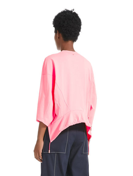 Drawstring-back Cropped T-Shirt