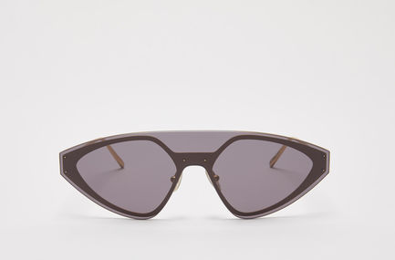 One-piece Speedster Metal Sunglasses