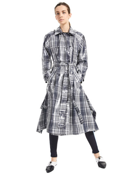 Oversized Check Trench Coat Sportmax
