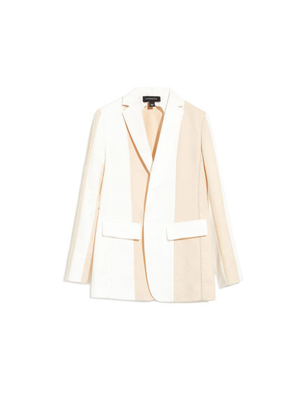 Blazer in lino bicolour