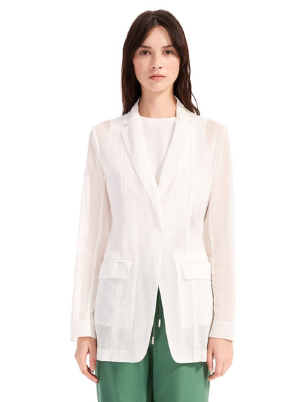 Sheer Cotton-Organza Blazer