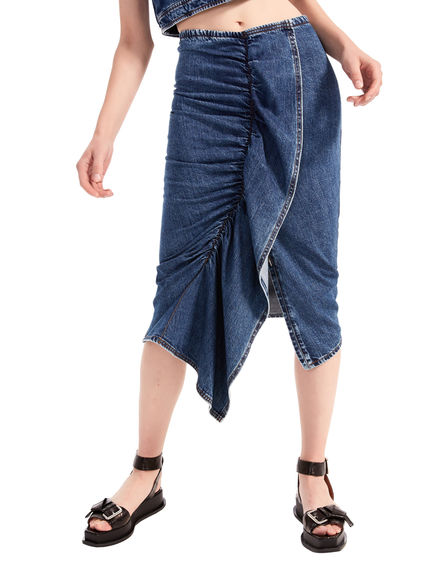 Denim Flounce Midi Skirt Sportmax