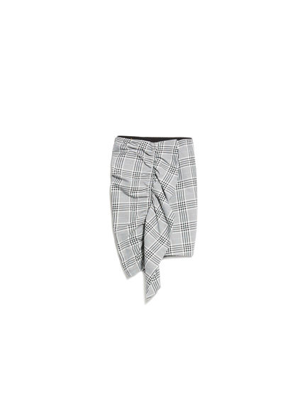 Prince of Wales Check Ruffle Skirt Sportmax