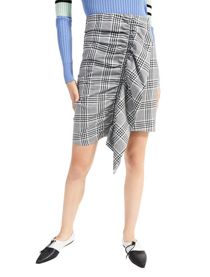 Prince of Wales Check Ruffle Skirt