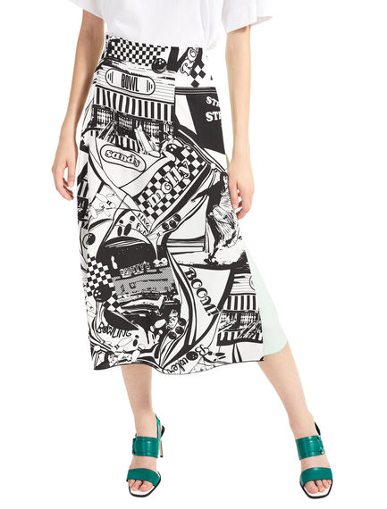 Colour Contrast Wraparound Skirt Sportmax