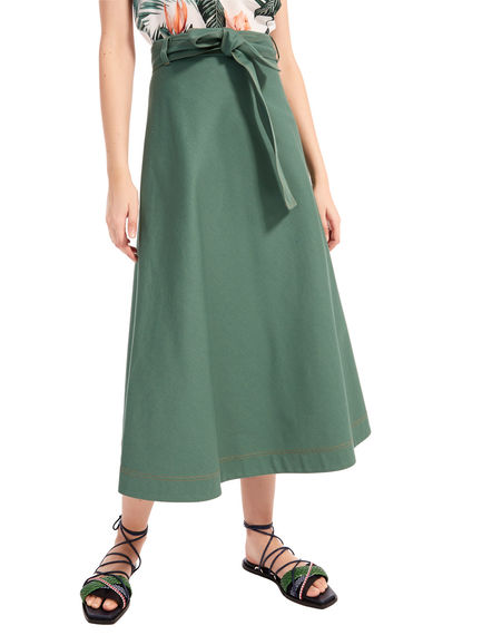 Cotton Drill Mermaid Skirt Sportmax