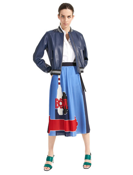 Bowling Print Pleated Skirt