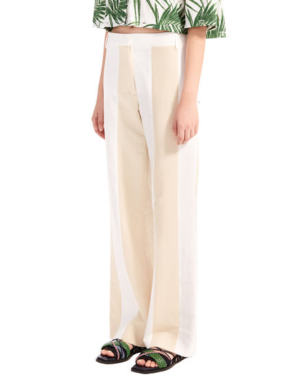 Two-Tone Linen Trousers Sportmax