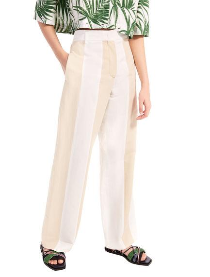 Two-Tone Linen Trousers Sportmax