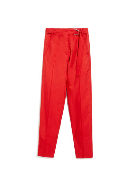 Carrot-Leg Trousers