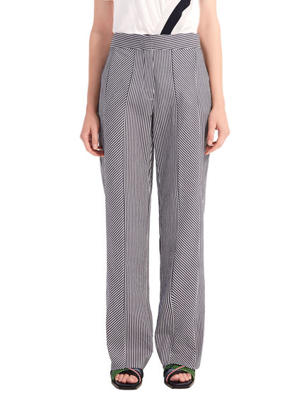 Multi-Stripe Seersucker Trousers