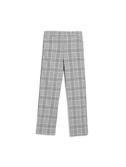 Pantaloni con motivo check