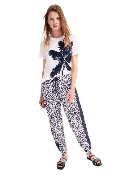 Printed Muslin Jogging Trousers