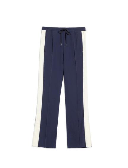 Pantaloni jogging con inserti a contrasto