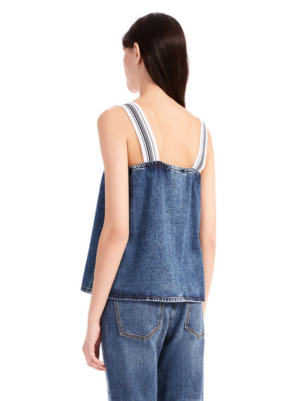 Flounced Denim Camisole