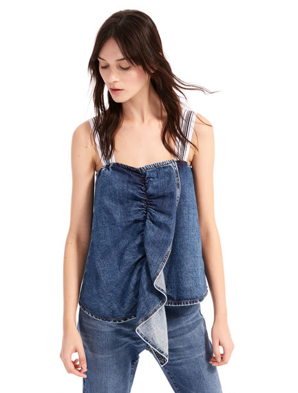 Flounced Denim Camisole Sportmax