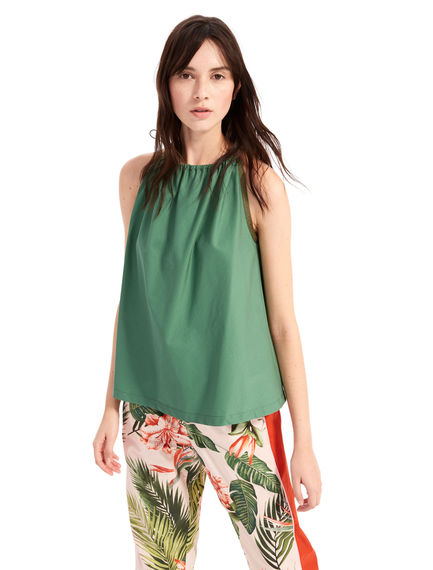 Drawstring Cotton Camisole