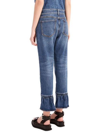 Frill Cuff Slouchy Jeans