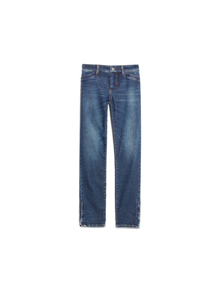 Super-Skinny Zip Detail Jeans
