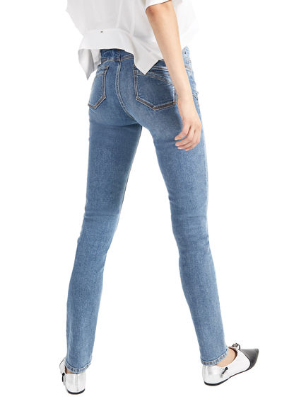 Mid-Wash Skinny Jeans