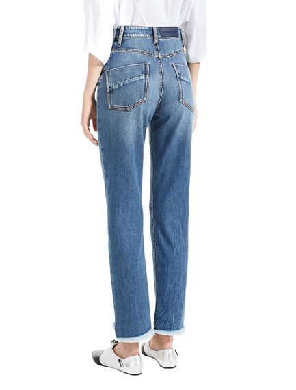 Mid-Wash Mom Jeans