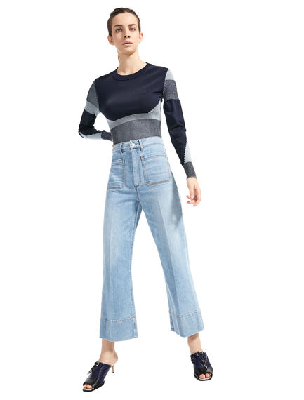 Vintage-style Crop Flare Jeans