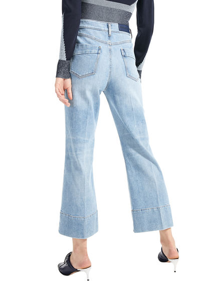 Vintage-style Crop Flare Jeans Sportmax